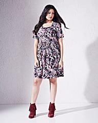Paisley Short Sleeve Babydoll Dress