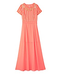 Beaded Split Detail Maxi Dress