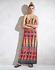 Lace-Up Back Column Maxi