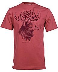 Brakeburn Moose Tee Burgundy