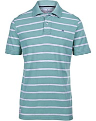 Brakeburn Green Stripe Polo