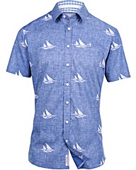 Brakeburn Boats Short Sleeved Shirt