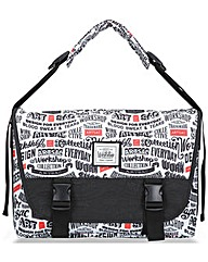 Artsac Script Printed Messenger Bag