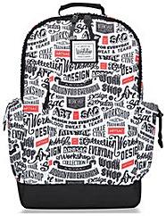 Artsac Script Printed Large Backpack