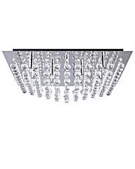 Galaxy K9 Crystal Chrome Ceiling Light