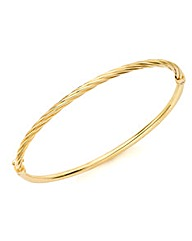 9ct Gold Light Twist Bangle