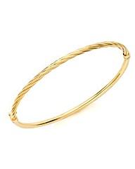 9ct Gold Light Twist Bangle