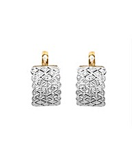 9ct Yellow Gold 0.11ct Diamond Earrings