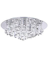 Montego Chrome Round Flush Ceiling Light