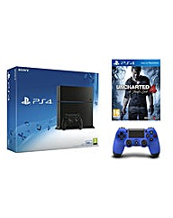 PS4 500gb Black Console  Uncharted 4