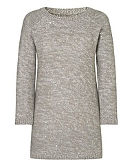Contrast Metallic Sequin Tunic