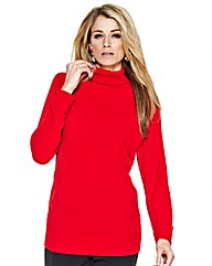 Fully Fashioned Polo Neck Jumper