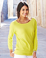 Plain Zip Shoulder Jumper
