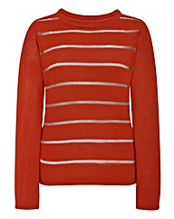 2 in 1 Sheer Stripe Jumper