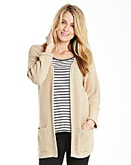 Roll Edge Longline Cardigan