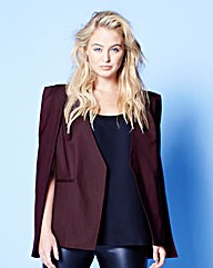 Lavish Alice Collarless Cape Blazer