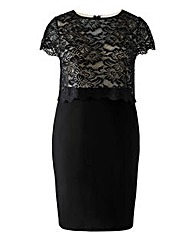 Lipstick Boutique Lace Pencil Dress
