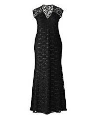 Lipstick Boutique Sequin Lace Maxi Dress