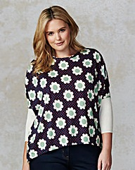 Traffic People Floral Print Jumper
