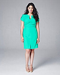 Eden Row Ruched Fitted Dress