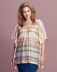 Traffic People Zig Zag Tunic