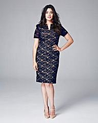 Eden Row Lace Fitted Dress