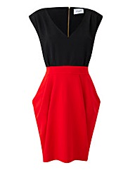 Closet Colour Contrast Fitted Dress