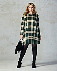 AX Paris Check Print Swing Dress