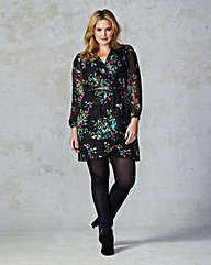 AX Paris Curve Floral Wrap Dress