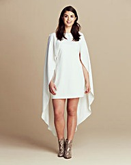 Lavish Alice Maxi Cape Overlay Dress