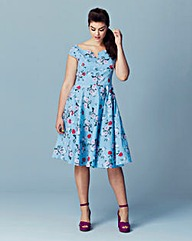 Hell Bunny Notch Fit and Flare Dress