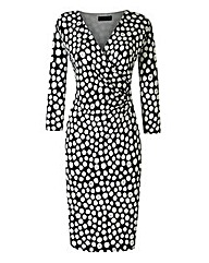 Grace Spot Wrap Dress