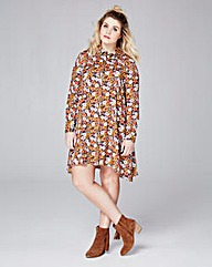 Alice & You Daisy Print Shirt Dress