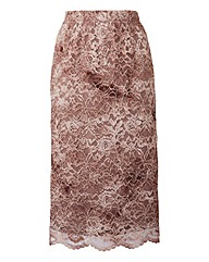 By Cream Lace Pencil skirt
