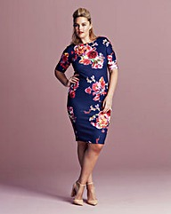 AX Paris Curve Bodycon Floral Dress