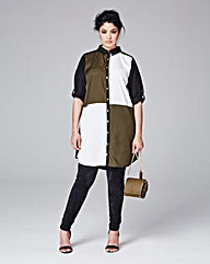 AX Paris Curve Block Shirt Dress