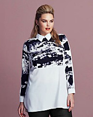 AX Paris Curve Smudge Print Blouse