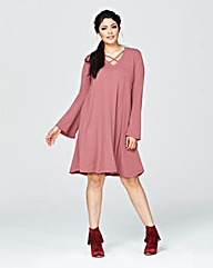 Alice & You Lace Up Swing Dress