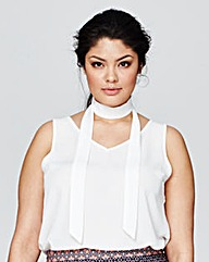 Alice & You Tie Neck Vest