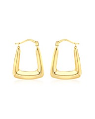 9CT Yellow Gold Shiny Handbag Earring