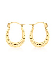 9CT Yellow Gold Mini Creole Earring