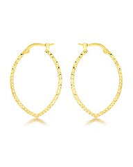 9CT Yellow Gold Patterned earring