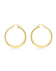 9CT Yellow Gold 25MM Creole Earring