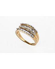 9ct Gold 0.75ct Baguette Diamond Ring