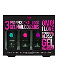 Gel Nail Polish Trio Set - Bright Colour