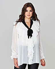 Simply Be Ruffle Tie Neck Tunic