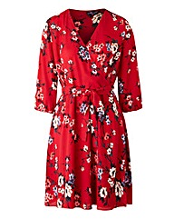 Simply Be Print Wrap Tea Dress