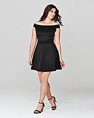 Simply Be Bardot Skater Dress