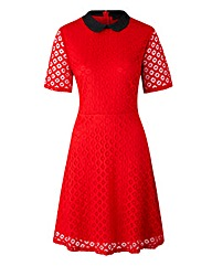 Simply Be Red Lace Skater Dress