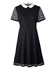 Simply Be Black Lace Skater Dress